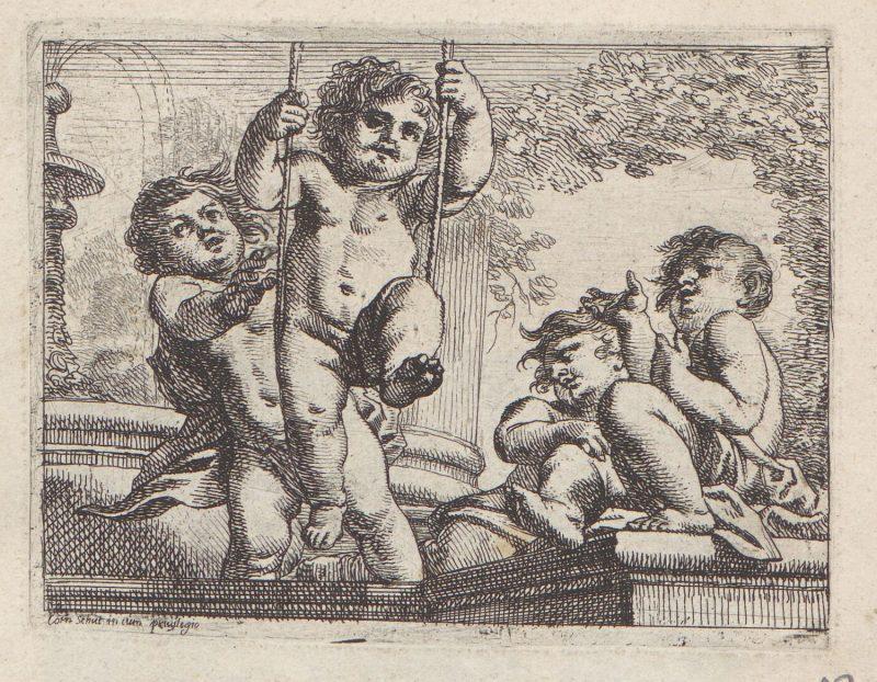 Vier spelende kinderen